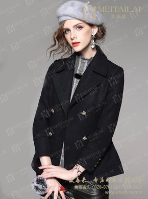 2017双面羊绒大衣新款